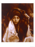 Kabylie Tribeswoman, c.1890 Giclee Print by Emile Frechon