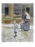Father's Day, 1891 Giclee Print by Victor Gabriel Gilbert