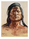 Shoshone Tribesman, 1899 Giclee Print by Charles Marion Russell