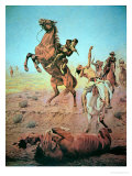 Fight For the Water Hole Giclee Print by Charles Schreyvogel