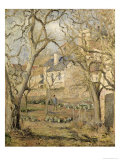 The Vegetable Garden, 1878 Giclee Print by Camille Pissarro