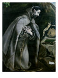 St. Francis of Assisi, 1580-95 Giclee Print by  El Greco