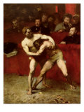 Wrestlers, 1875 Reproduction proc&#233;d&#233; gicl&#233;e par Jean Alexandre Joseph Falguiere