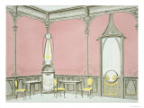 Interior Design For a Brasserie, Illustration from Menuiserie D'Art Nouveau, Published c.1900 Giclee Print by F. Barabas