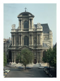 Facade of the Church of Saint-Gervais, Built 1616-21 Giclee Print by Clement II Metezeau