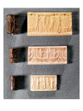 Three Cylinder Seals with Impressions, 1st Millennium BC Giclee Print by  Mesopotamian