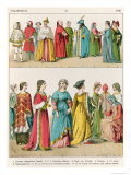 Italian Dress, c.1300 Giclee Print by Albert Kretschmer