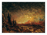 Fire Giclee Print by Felix Ziem