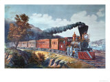 American Express Train, 1864 Giclee Print by Currier & Ives
