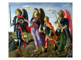 The Three Archangels and Tobias Giclee Print by Francesco Botticini