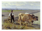 The Furrow, 1897 Giclee Print by Edouard Debat-Ponsan