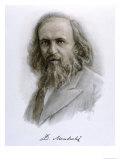 Dmitri Mendeleyev, Giclee Print