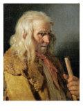 Portrait of a Breton Peasant, 1834 Giclee Print by Jean-jacques Francois Monanteuil