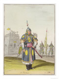 Chinese Soldier in Full Battle Dress, Le Costume Ancien ou Moderne, c.1820-30 Giclee Print by Antonio Rancati