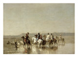 Falcon Hunt, 1862 Giclee Print by Alberto Pasini