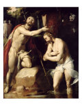 The Baptism of Christ Gicle-tryk af Cornelis Cornelisz. van Haarlem
