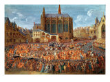 The Departure of Louis XV Giclee Print by Pierre-Denis Martin