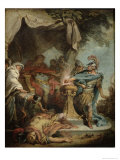 Mucius Scaevola Before Porsenna Giclee Print by Francois Boucher