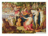 The Banquet of the Gods Reproduction procédé giclée par Hendrik van the Elder Balen