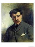 Portrait of Alexander Falguiere Giclee Print by Leon Joseph Florentin Bonnat