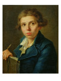Portrait of Jacques-Louis David Giclée-Druck von Joseph-marie, The Elder Vien