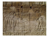 Relief Depicting Seti I Giclee Print by Egyptian 19th Dynasty