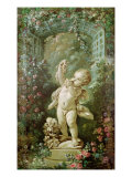 Cupid with Grapes Giclee Print by Francois Boucher