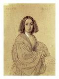 Portrait of George Sand Giclee Print by Luigi Calamatta