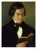 Portrait of the Poet Heinrich Heine Giclee Print by Amalia Keller