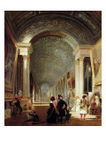 View of the Grande Galerie of the Louvre, 1841 Giclee Print by Patrick Allan-fraser