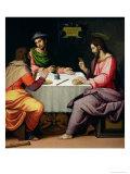 The Supper at Emmaus, c.1520 Giclée-tryk af Ridolfo Ghirlandaio