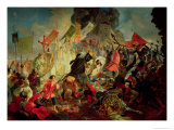 King Stephan IV Batory Besieging Pskov in 1581 Giclee Print by Karl Pavlovich Briulloff