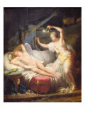 Cupid and Psyche Giclee Print by Jean-Baptiste Regnault