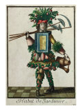 The Gardener&#39;s Costume Giclee Print by Bonnart 