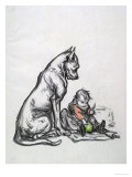 Dog and Child, Early 20th Century Giclee Print by Robert Noir