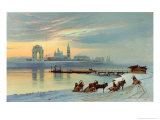 The Angara Embankment in Irkutsk, 1886 Giclee Print by Nikolai Florianovich Dobrovolsky