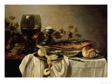 Breakfast, 1646 Reproduction procédé giclée par Pieter Claesz