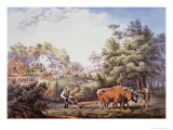 American Farm Scene, 1853 Giclee Print by Frances Flora Bond Palmer
