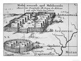 Iroquois Village, 1651 Giclée-Druck von Nicolas Visscher