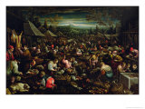 The Small Market Giclee Print by Leandro Da Ponte Bassano