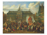 Procession at Antwerp, 1697 Giclee Print by Alexander Van Bredael