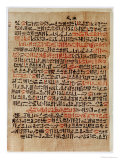 Fragment of the Ebers Papyrus, New Kingdom, c.1550 BC Reproduction procédé giclée par Egyptian 18th Dynasty