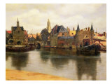 View of Delft, c.1660-61 Reproduction procédé giclée par Jan Vermeer