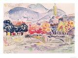Le Paillon, Nice, 1921 Giclee Print by Paul Signac
