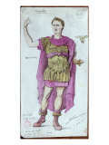 Costume Design For Julius Caesar from La Mort de Pompee by Corneille, 1906 Giclee Print by Desire Chaineux