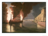 Fireworks on the Seine Giclee Print by Francesco Piranesi