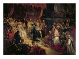The Abdication of Charles V Giclee Print by Louis Gallait