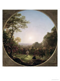 The Solitary Cross, 1845 Giclee Print by Thomas Cole