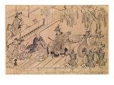 Scene of a Sacred Dance Giclee Print by Hishigawa Moronobu