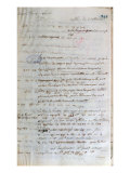 Letter Written by Voltaire to the French Foreign Minister in Paris, 1st August 1743 Giclee Print by Francois Marie Arouet Voltaire